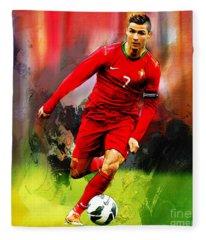 Cristiano Ronaldo 08a Fleece Blanket