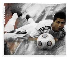 Cristiano Ronaldo 093 Fleece Blanket