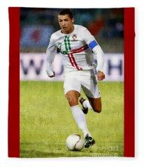 Cristiano Ronaldo - Soccer Legend Fleece Blanket