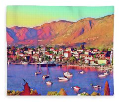 Croatia Coastal Living Fleece Blanket