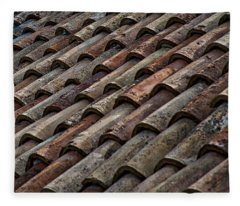 Croatian Roof Tiles Fleece Blanket