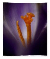 Crocus Detail Fleece Blanket