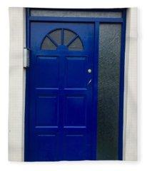 Crooked Blue Door In  Ireland  Fleece Blanket