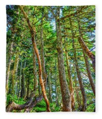 Crooked Trees Of Mt Roberts Fleece Blanket