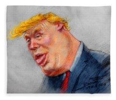 Crooked Trump Fleece Blanket