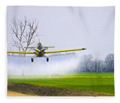 Precision Flying - Crop Dusting 1 Of 2 Fleece Blanket