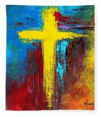 Cross No.2 Fleece Blanket