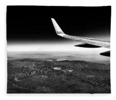 Cross Country Via Outer Space Fleece Blanket