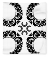 Cross Maori Style Fleece Blanket