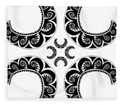Cross Maori Style Fleece Blanket