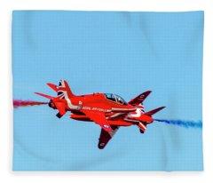 Cross Over The Reds  Fleece Blanket