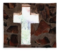 Cross Shaped Window In Chapel  Fleece Blanket