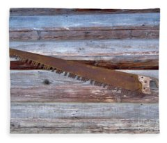 Crosscut Saw Fleece Blanket