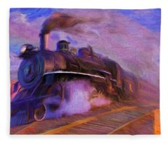 Crossing Rails Fleece Blanket