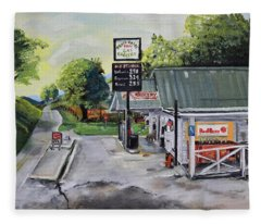 Crossroads Grocery - Elijay, Ga - Old Gas And Grocery Store Fleece Blanket