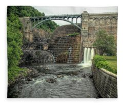 Croton Dam In Summer Fleece Blanket