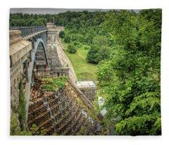 Croton Dam New York Fleece Blanket