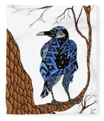 Crow Fleece Blanket