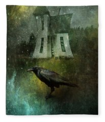 Crow House Fleece Blanket