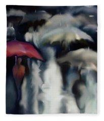 Crowded Rain Fleece Blanket
