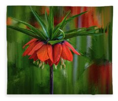 Crown-imperial Abstract #h5 Fleece Blanket