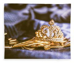 Crowned Tiara Jewellery Fleece Blanket