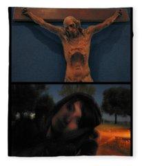 Crucifixion Fleece Blanket