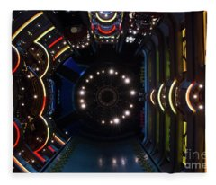 Cruise Ship Abstract Centrum Fleece Blanket