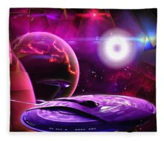 Cruising By The Super Nova Fleece Blanket