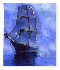 Cruising The Open Seas Fleece Blanket