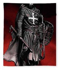 Crusader Warrior - Medieval Warfare Fleece Blanket