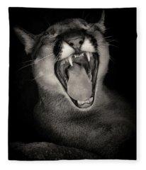 Cruz Yawning Fleece Blanket