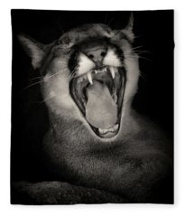 Cruz Yawning Fleece Blanket