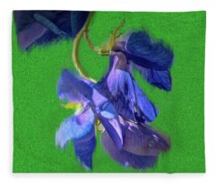 Crying Iris #g9 Fleece Blanket