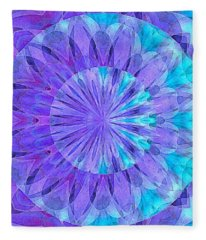 Crystal Aurora Borealis Fleece Blanket