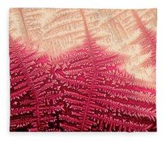 Crystal Of Ammonium Chloride Fleece Blanket