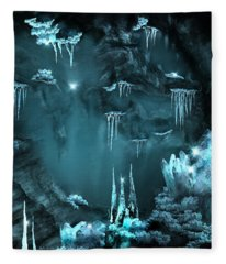Crystal Cave Mystery Fleece Blanket