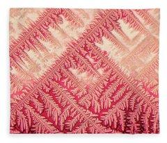 Crystal In Red Pigment Fleece Blanket