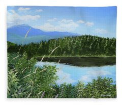 Crystal Lake Fleece Blanket