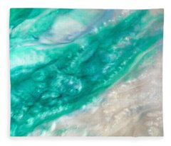 Crystal Wave11 Fleece Blanket