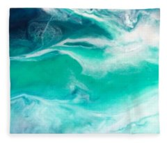 Crystal Wave12 Fleece Blanket
