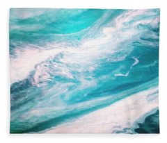 Crystal Wave13 Fleece Blanket
