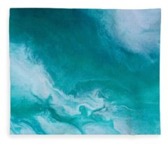 Crystal Wave14 Fleece Blanket