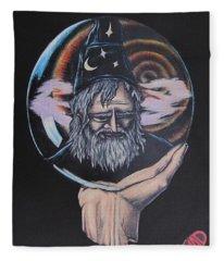 Crystal Wizard Fleece Blanket