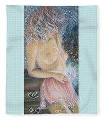 Blaa Kattproduksjoner      Crystal Wonder Viking Girl  Fleece Blanket