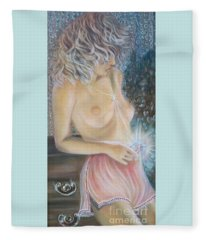 Blaa Kattproduksjoner      Crystal Wonder Viking Girl  Fleece Blanket