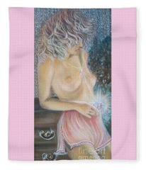 Blue.cat Productions.  Crystal Wonder Viking Girl  Fleece Blanket