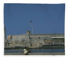 Cuba In The Time Of Castro Fleece Blanket