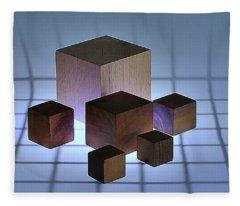 Cubes Fleece Blanket