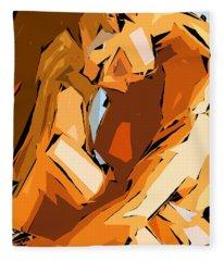 Fleece Blanket featuring the digital art Cubism Series Ix by Rafael Salazar